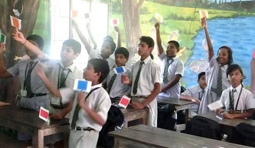 インドの学校で日本語の授業