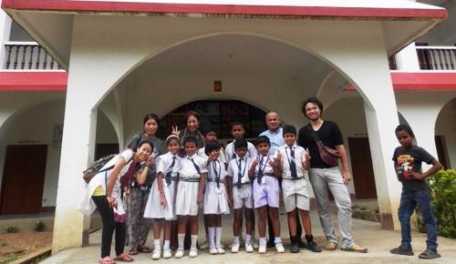 インドの学校に宿泊